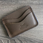 Classic 4 pockets Card Wallet Tobacco Leather