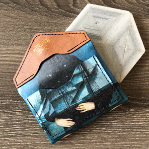 Decoupage Leather Card Holder