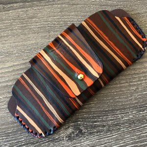 Hand painted Leather Sunglasses Case