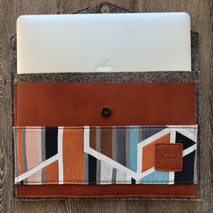 HJ Leather Felt Laptop Sleeve Cover