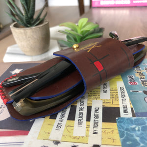 Mondrian Composition Sunglasses Leather Case