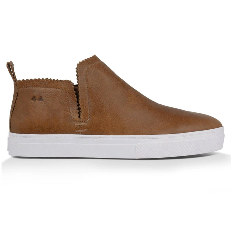 Ankle Amora^^ - Couro Floater Cognac