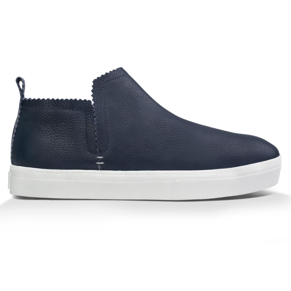 Ankle Amora^^ - Couro Floater Navy