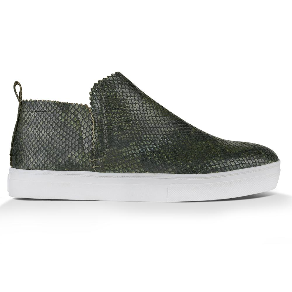 Ankle Amora^^ - Couro Snake Dark Green