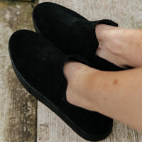 Ankle Amora^^ - Couro Suede ALL Black
