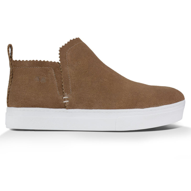 Ankle Amora^^ - Couro Suede Caramelo