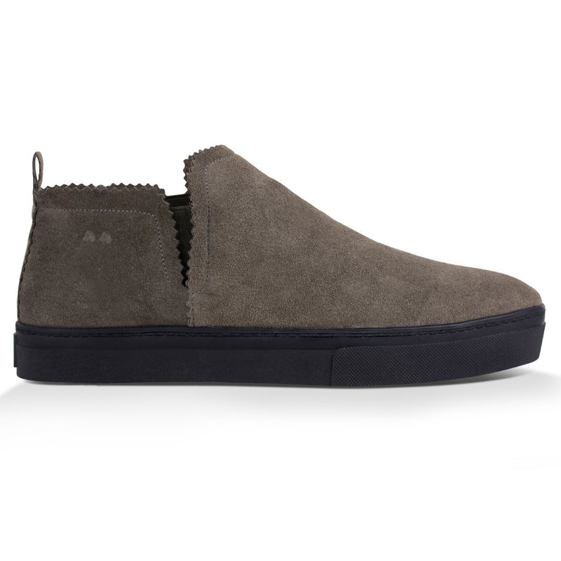 Ankle Amora^^ - Couro Suede Winter Taupe