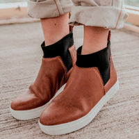 Ankle Lucy^^ - Couro Floater Cognac