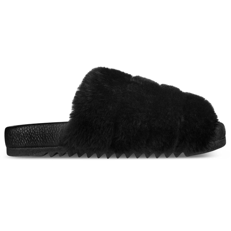 Pantufa Slide Snow^^ - Pelo All Black