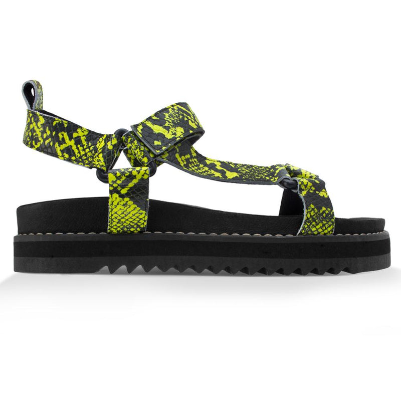 Papete Bebel^^ - Couro Snake Neon Green