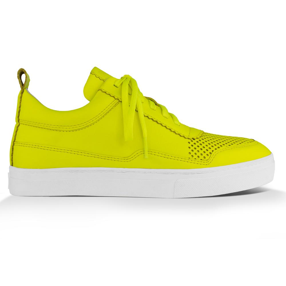 Tênis Ginger^^ - Couro Neon Yellow