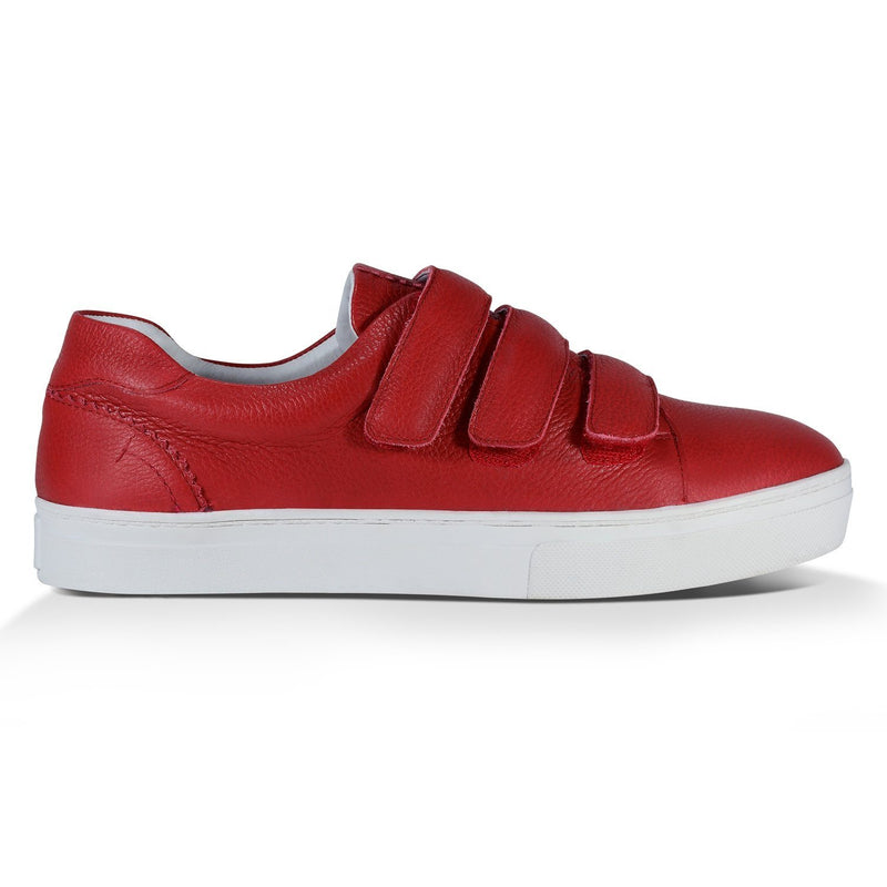 Tênis Velcro Bri^^ - Couro Floater Deep Red