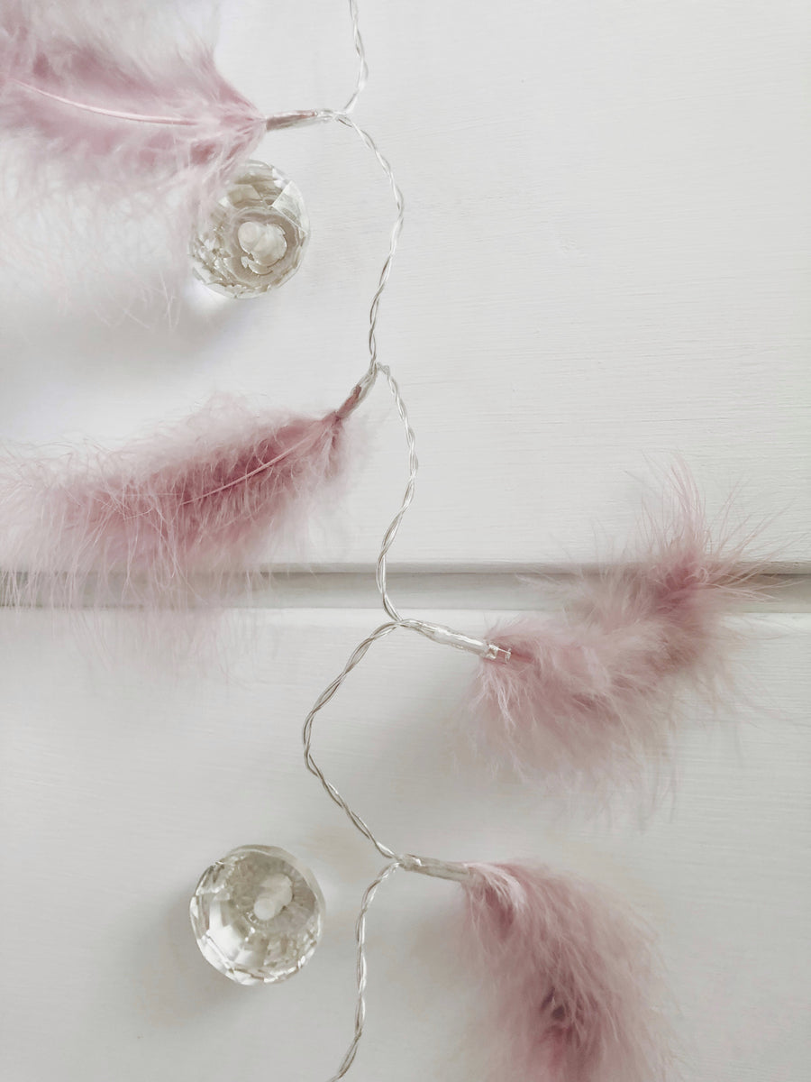 Dusty Pink Feather Lights