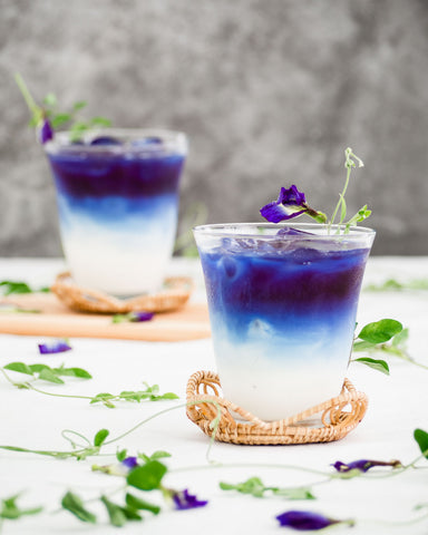 butterfly pea flower tea with milk the amazing tea company