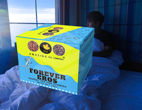 forever eros tea for men's sex drive, stamina by the amazing tea company