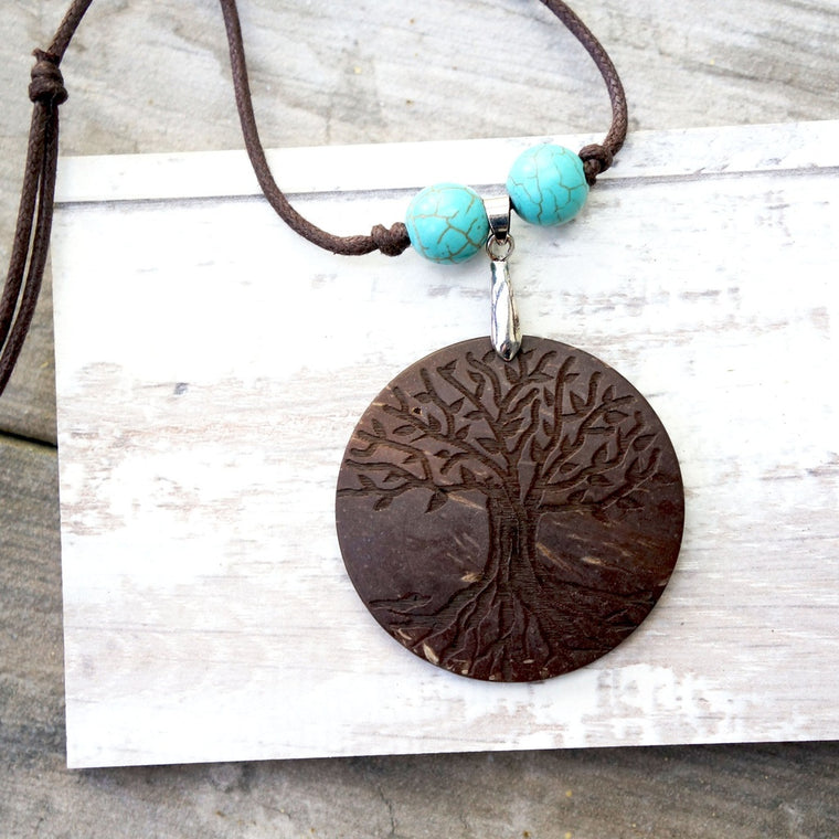 Carved Tree Necklace
