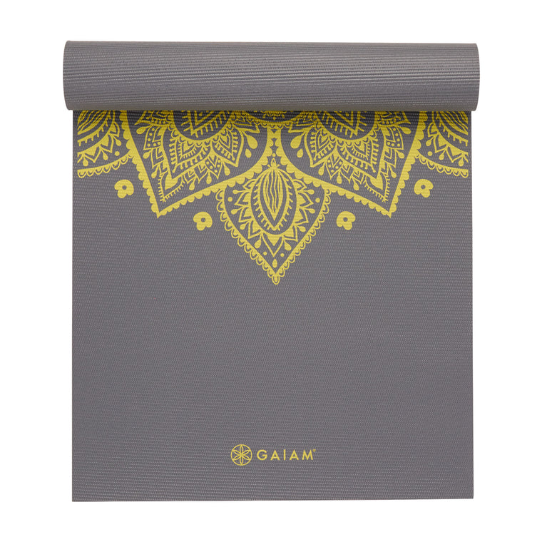 GAIAM Premium Citron Sundial yoga Mat 6 MM