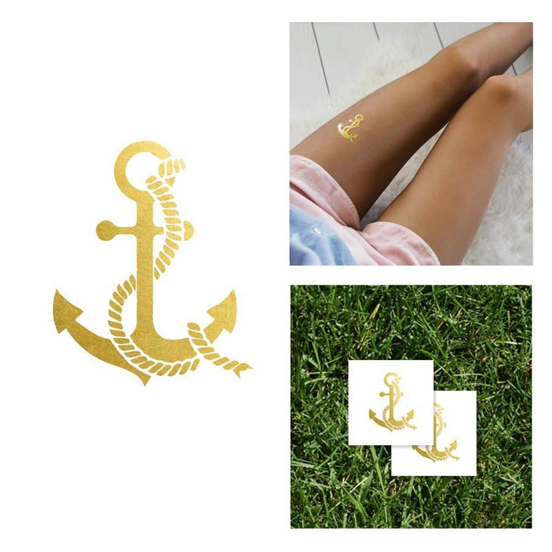 2 PACK Anchor Tattoo + 2 PACK Egyptian Eye