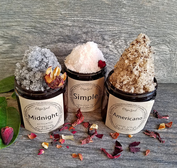 Dead Sea Salt | 8 OZ LARGE | Activated Charcoal | Coffee Scrub | Virgin Pink Himalayan Salt |