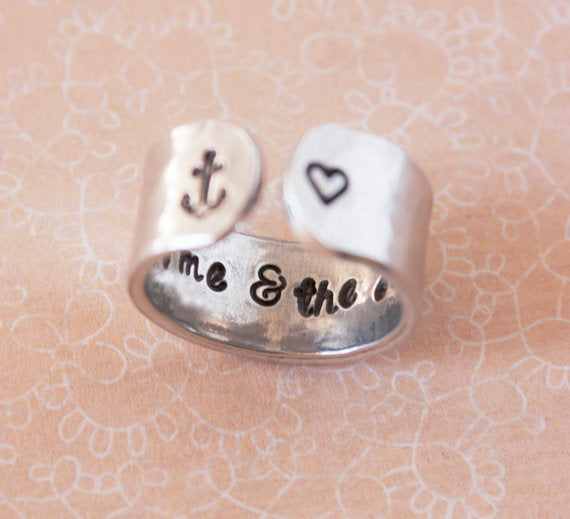 This ring's secret message can be shared with a loved one. The outside o...