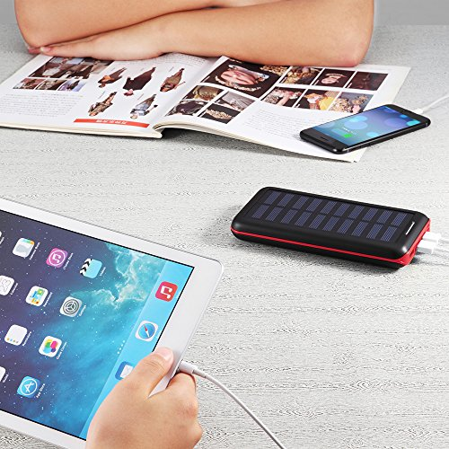 Solar Charger Bernet 24000mah High Capacity Portable Power Bank With