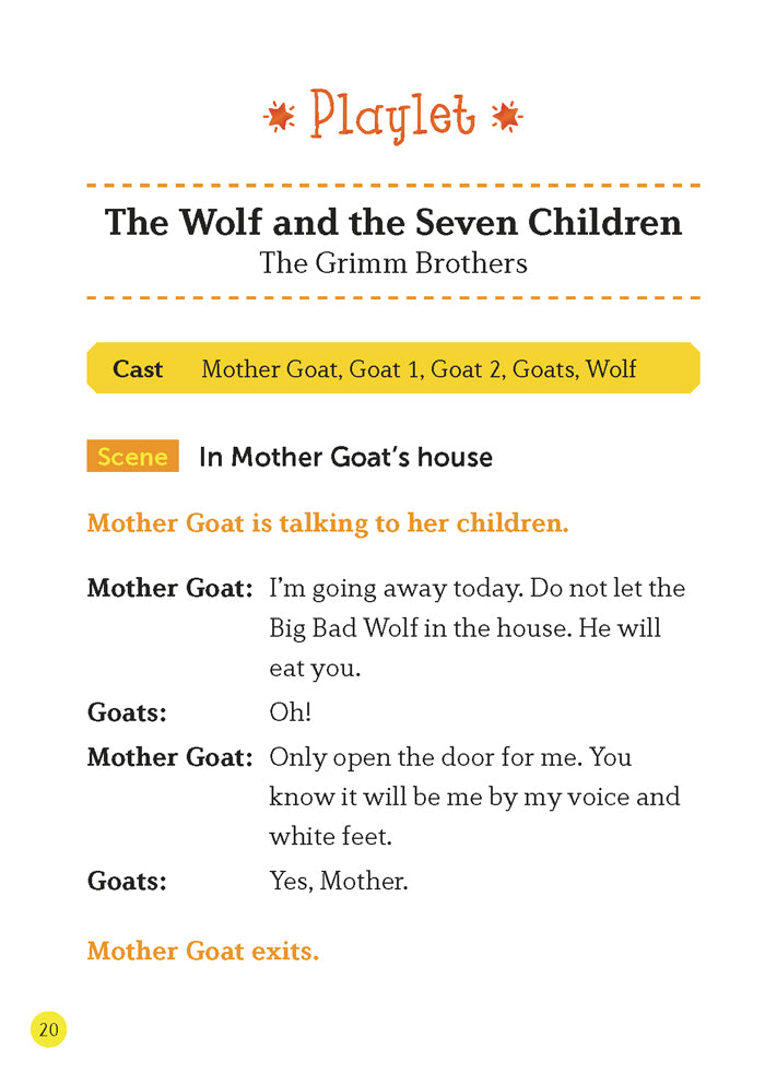 EF Classic Readers Level 1, Book 3:  The Wolf and the Seven Children