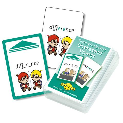 Unstressed Vowels Chute Cards