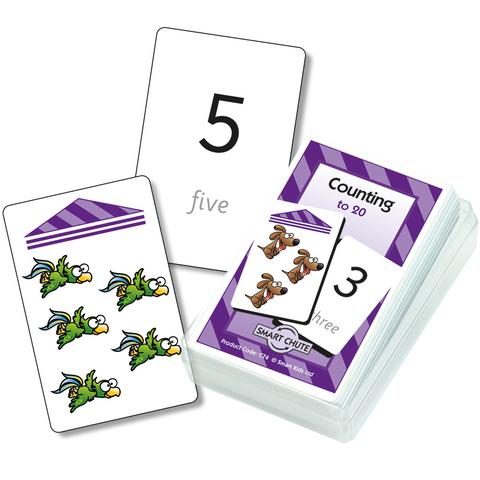 Visual Counting to 20 Chute Cards