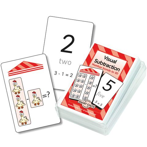 Visual Subtraction Chute Cards