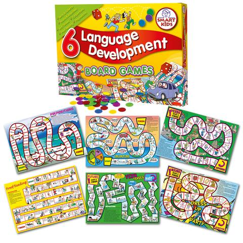 6 Language Development Board Games