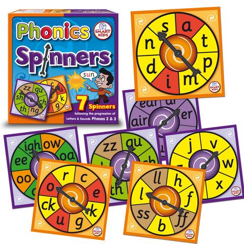 Phase 2 & 3 Phonics Spinners