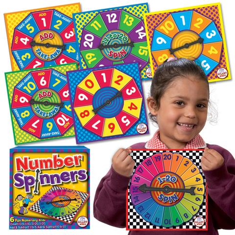 6 Number Spinners Regular price (NP11)