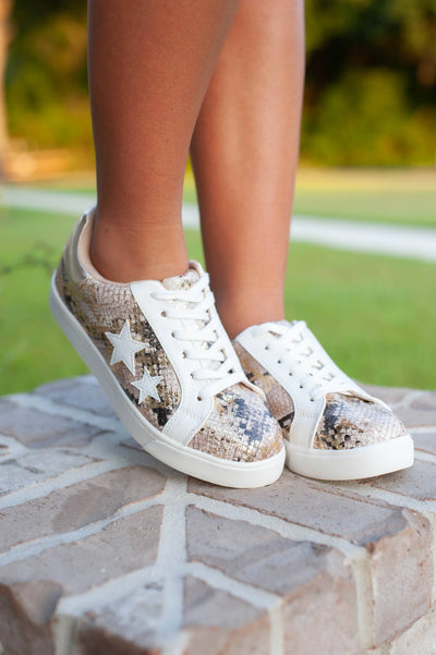Wander Metallic Star Sneakers