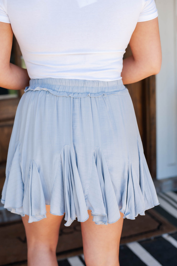 Sweet As Sugar Skort Blue