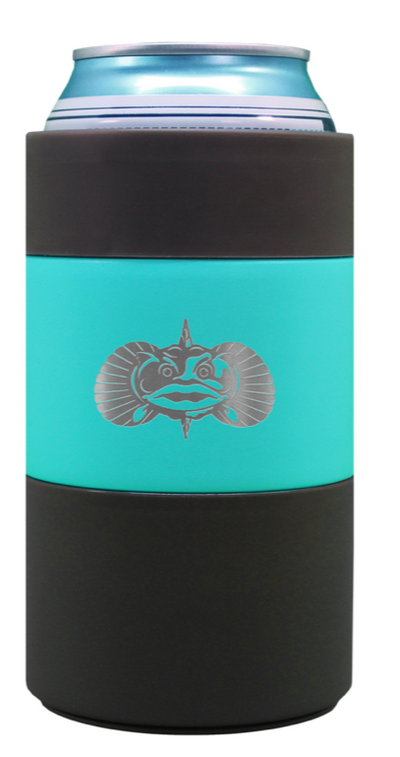 Toadfish non slip 12 oz. can holder teal