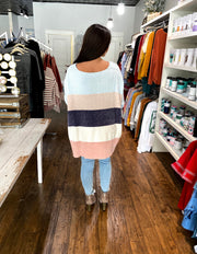 One Size No Worries Striped Sweater