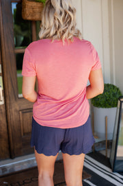 Bicycle For Two Linen Shorts Navy