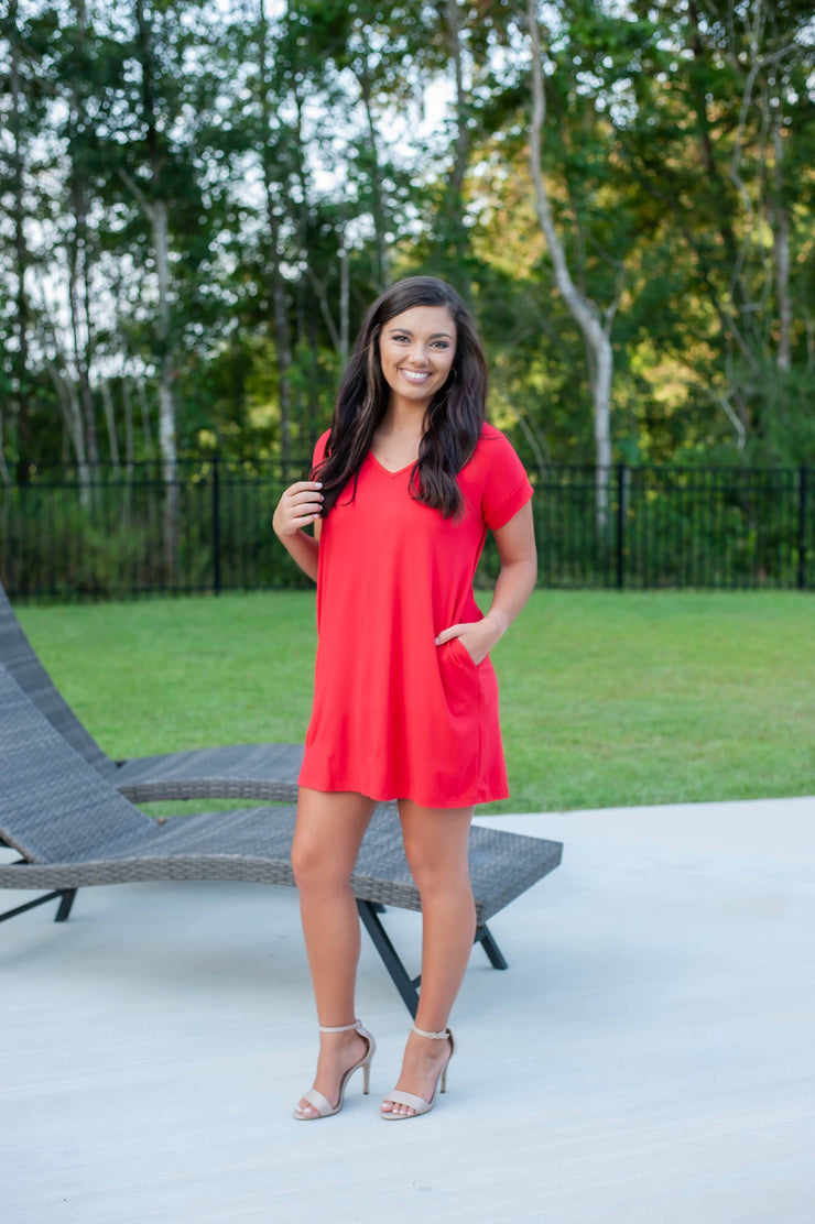 Practically Perfect Dress Red