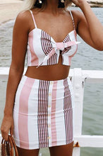 Pink Stripe Two Piece Set - NaturaleeChicBoutique