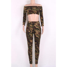 Camouflage Two Piece Set - NaturaleeChicBoutique