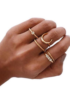 To The Moon Ring Set - NaturaleeChicBoutique