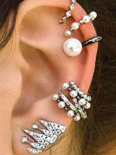 Pearl World Ear Cuff Set