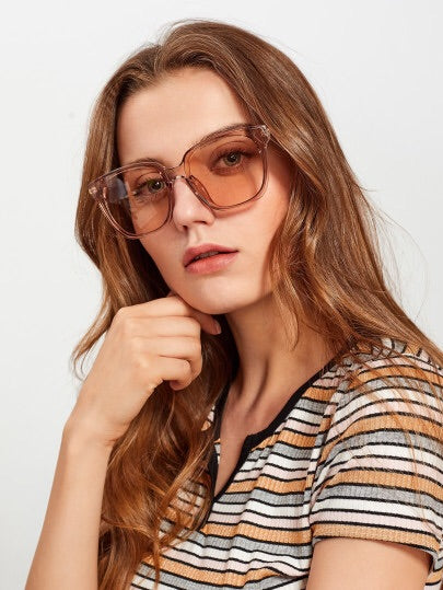 Clear Horizon Oversized Sunglasses - NaturaleeChicBoutique