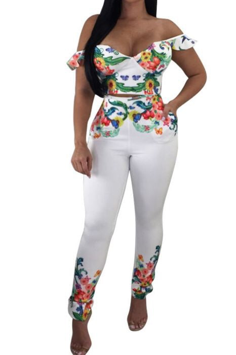 Floral Floratine Two Piece Set
