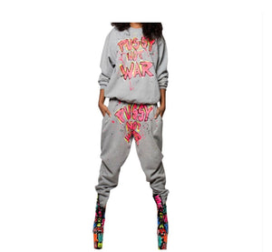 Pussy Not War Two Piece Pants Set