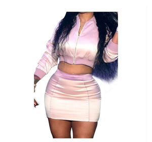 Sexy Flight Two Piece Skirt Set