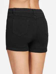 Black Highwaist Shorts