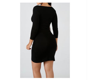 Simplicity Long Sleeve Bodycon Dress - NaturaleeChicBoutique