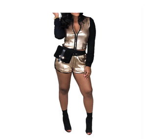 Gold Member Two Piece Shorts Set