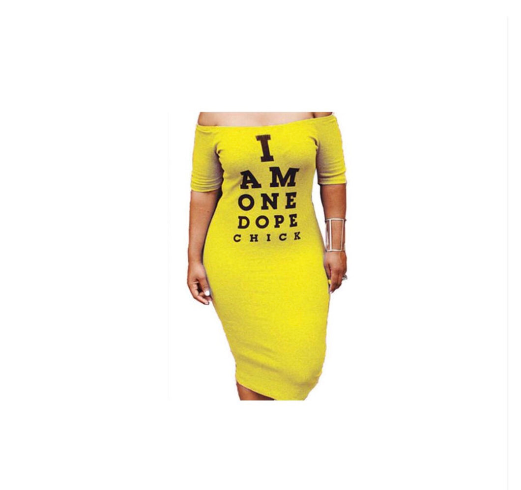 Dope Chick Bodycon Dress - NaturaleeChicBoutique